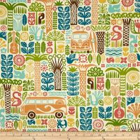 100% Organic Cotton - Width 44'' Designed by Dennis Bennett for Birch Fabrics, this GOTS certified organic cotton print fabric is perfect for home décor accents. Colors include ivory, coral, orange, mustard, teal, aqua and green.