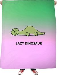 Lazy Dinosaur Fleece Blanket $65.00