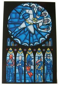 Batman stained glass