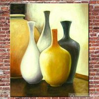 Oil Painting Vases Hand Painted On Canvas