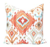 Orange Pillow Throw Pillow Cover Pillow Cover by FestiveHomeDecor, $16.00