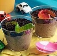 Worms 'n Dirt is a great treat for Halloween parties or just a fun and tasty after-school snack. Although kids enjoy getting their own personal cups, you can al