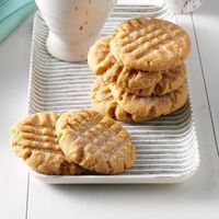 """It is amazing how much flavor these simple peanut butter cookies have. I make them very often because I always have the ingredients on hand. �€""""Maggie Schimmel, W"""