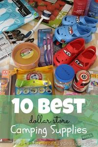 Camping Supplies from the Dollar Store #camping #summerfun #freezercooking