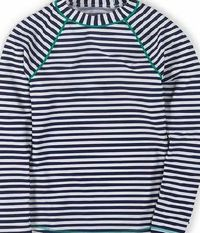 Boden Rash Vest, Sailor Blue/Ivory Stripe 34594069 For the sportier swimmer, this long-sleeved rash vest provides full coverage for all surf-side activities - and dries quickly after youve taken the plunge. Co-ordinates with our mix-and-match swimwear htt...
