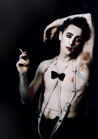 Alan Cumming reprising his role as the emcee in Cabaret with Michelle Williams as Sally Bowles. by ANNIE LEIBOVITZ http://www.widewalls.ch/artist/annie-leibovitz/ #photography