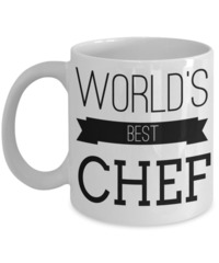 Cook Gift - Chef Mug - Culinary Gifts For Men - Worlds Best Chef $14.95