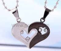 Gullei.com Personalized Engraved Gift For Valentine Couple Necklaces Set for 2