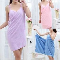 2019 New Home Textile Towel Women Robes Bath Wearable Towel Dress Womens Lady Fast Drying Beach Spa Magical Nightwear Sleeping $24.95