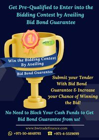 This infographic is presented by Bronze Wing Trading L.L.C., the international Bank Guarantee providers in Dubai. This infographic discusses the importance of having Bid Bond Guarantee for contractors to get pre-qualified to enter into the bidding contest...