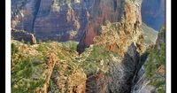 Zion National Park, Angels Landing. Hiked this with my family when I was about 14. My mom wasn't too happy about us getting to close to the edge!