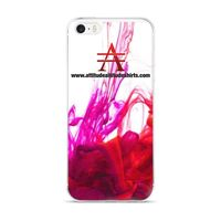 Purple and Red Ink Pool on White iPhone Case $20.00