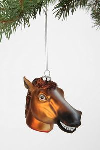 Horse Head Ornament. #Meme up your holiday!