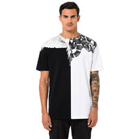 MARCELO BURLON 2018 MENS T-SHIRT M112 SNAKES WINGS T-SHIRT BLACK