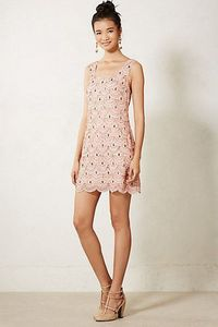 Scalloped Shift Dress #anthropologie. What do you think ? I am not sure about the colour but think it is the right style.