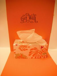 Card tutorial for tissue box pop up 'Get Well'