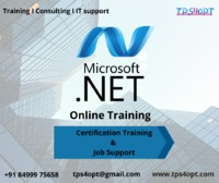 .Net Online Training and Certification Course | Job Support | Tps4Opt TPS4OPT Provides Online Microsoft .Net Training by Expert trainer.Tps4opt providing Job Supports and Course Certificate.  For Program Features Please contact: Call us for more detai...