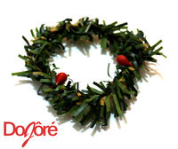 Pack of 10 MINI Xmas Wreaths. Christmas Doll House Decor £8.39