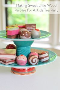 Making Wooden Play Pastries & Treats For A Kids Tea Party   Young House Love