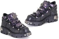 New Rock Boots - 110 - Purple Leather Shoe in purpleReactor sole with Metal AttachmentsLace Fastening with Spiky Studs on Uppers   Click here for our Size Info Click here for our Delivery Info Click h http://www.comparestoreprices.co.uk//new-rock-boots--...