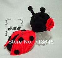 Free Crochet pattern baby lady bug | New arrive cute ladybug handmade crochet baby hat and shawl-in Hats ...