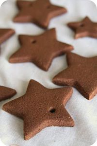 Cinnamon Ornaments - The recipe calls for a few ingredients: '�'�' 4 oz. (or 1 CUP) cinnamon '�'�' 1 TABLESPOON ground cloves '�'�' 1 TABLESPOON ground nutmeg '�'�' 3/4 CUP applesauce '�&...