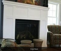 This is our final design. It's all wood trim (no tile) around our electric fireplace insert.
