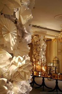 Paper flowers all white
