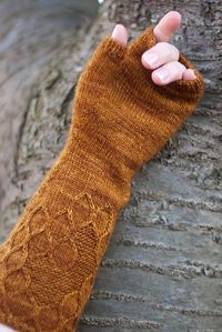 Apis Dorsata Mitts pattern by Anna Sudo