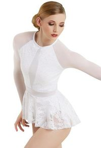 Lace And Mesh Peplum Top