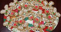 flip a gingerbread man upside down and voila...reindeer!