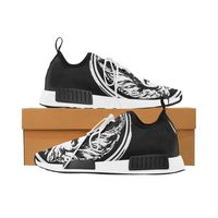 Womens black and White Lion Lace up Trainers £155.99