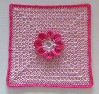 8-Petal Flower Afghan Square Free Crochet Pattern | Ambassador Crochet
