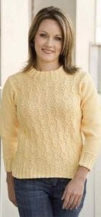 CABLE COLUMN PULLOVER-KNITTING PATTERN