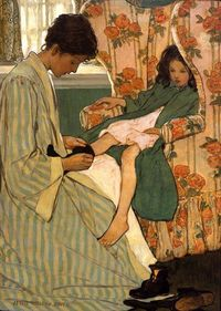"""Jessie Willcox Smith (September 6, 1863 '�'�"""" May 3, 1935) was a United States illustrator famous for her work in magazines such as Ladies Hom..."""
