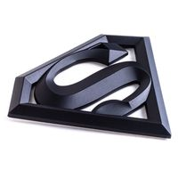 "Superman 3D Matte Black Auto Emblem - (4.2"" x 3"") - Decal For Cars, Trucks, SUVs $19.99"