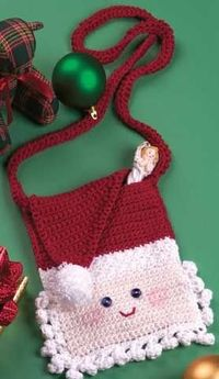 Santa Purse free crochet pattern