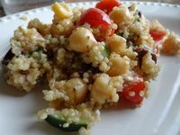 Greek Quinoa Salad. Delicious Summer side or a great Vegetarian lunch!
