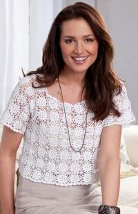 Lacy Cropped Top Free Crochet Pattern from Aunt Lydia's Crochet Thread