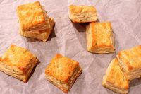 Sage Onion Biscuits and Croutons