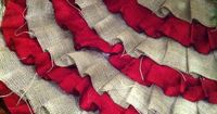 ruffle no sew tree skirt- love the burlap and red! - Click image to find more DIY & Crafts Pinterest pins