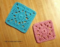 ~ Dly's Hooks and Yarns ~: ~ double duty square ~ *what a cute simple granny pattern thats just that bit different<3