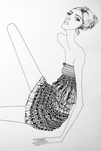 Fashion illustration by Kelly Beeman, via Behance