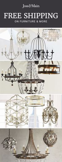 Chandeliers at jossandmain.com! Sign up to find out more about FREE SHIPPING on all orders over $49!