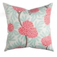 Mint Fleur Chinoise Pillow - this site has awesome, but really expensive pillows!