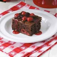 Cherry Chocolate Cake I have been making this cake for a while and everyone loves it! #tasteofhome #easterdinner