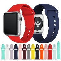 Colorful Soft Silicone Sport Band for Apple Watch 38MM 42MM 40mm 44mm Series 4 3 2 1 $45.99