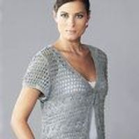 Knit a lacy cap-sleeved cardigan: free knitting pattern