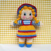 Sunny Sally knitted toy doll INSTANT DOWNLOAD PDF by toyshelf, $4.50