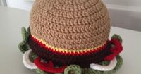 By Jenni Designs: Free Crochet Pattern: Hamburger Hat in sizes for toddlers, children/youth & teen/women